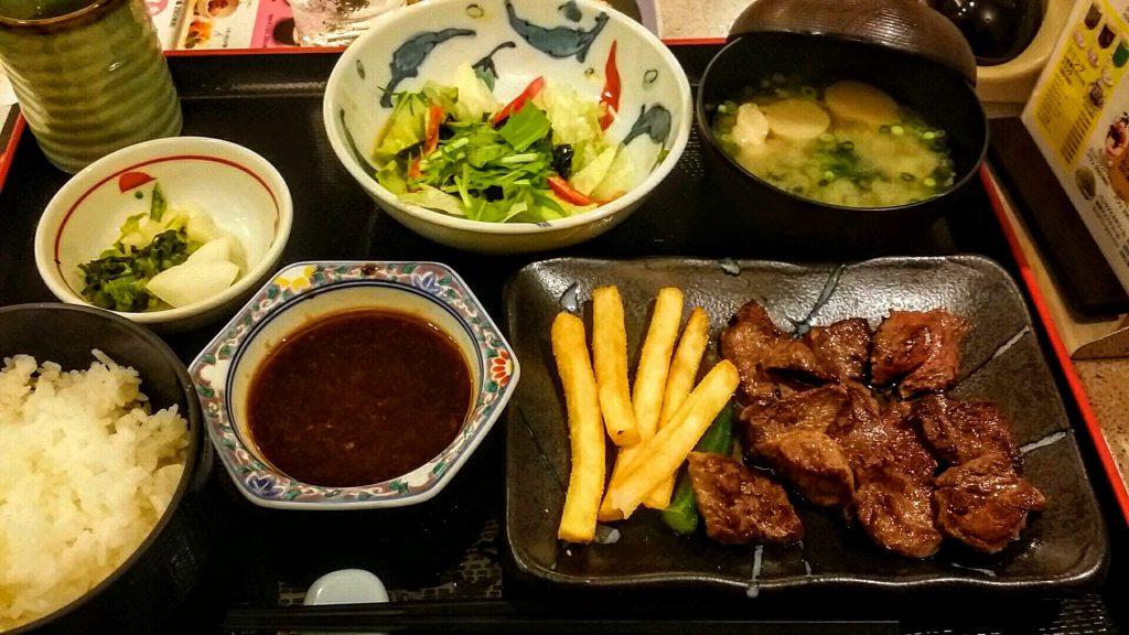 圧屋ステーキ定食