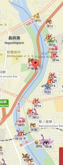 桜ノ宮公園コイキング