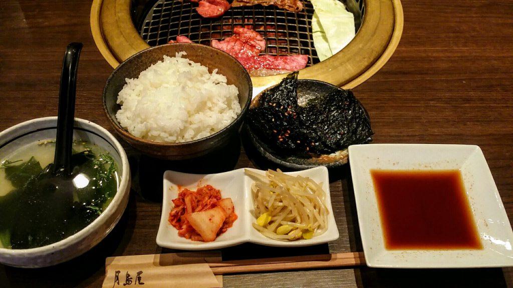 「月島屋」大盛り焼肉定食3