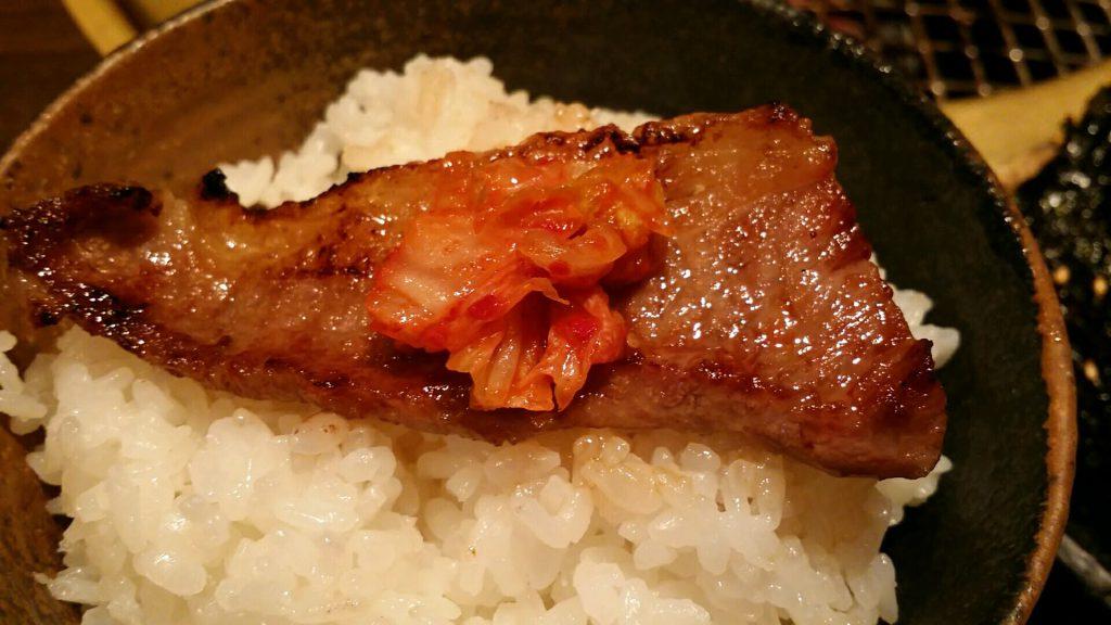 「月島屋」大盛り焼肉定食