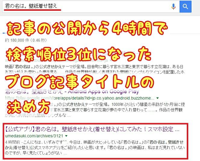 ブログ記事タイトルの決め方15