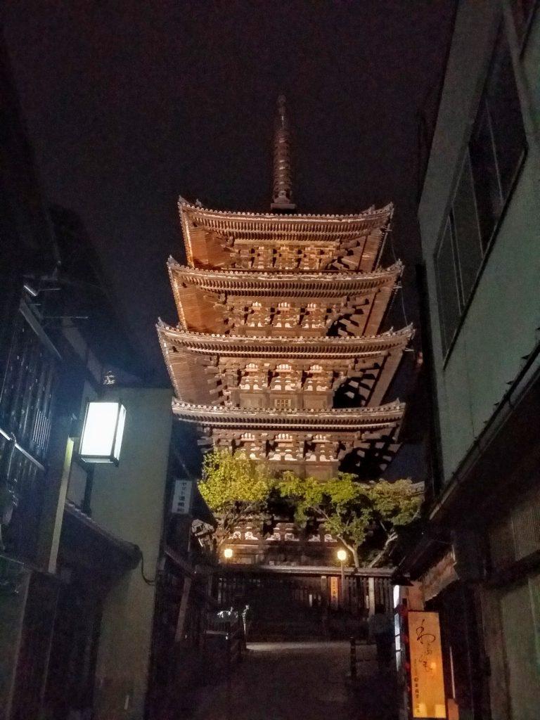 ホテルモントレ京都から八坂の塔