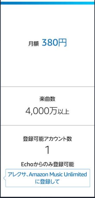 Amazon Music Unlimited Echoプラン